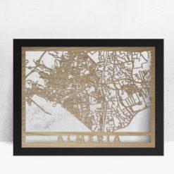 Mapa de madera de Almería decoración
