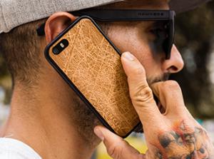 Funda de madera para Samsung