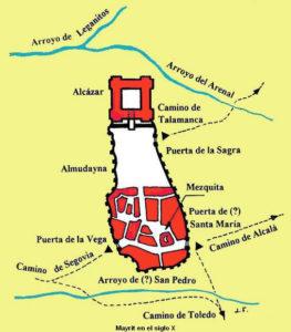 Mapa Madrid árabes