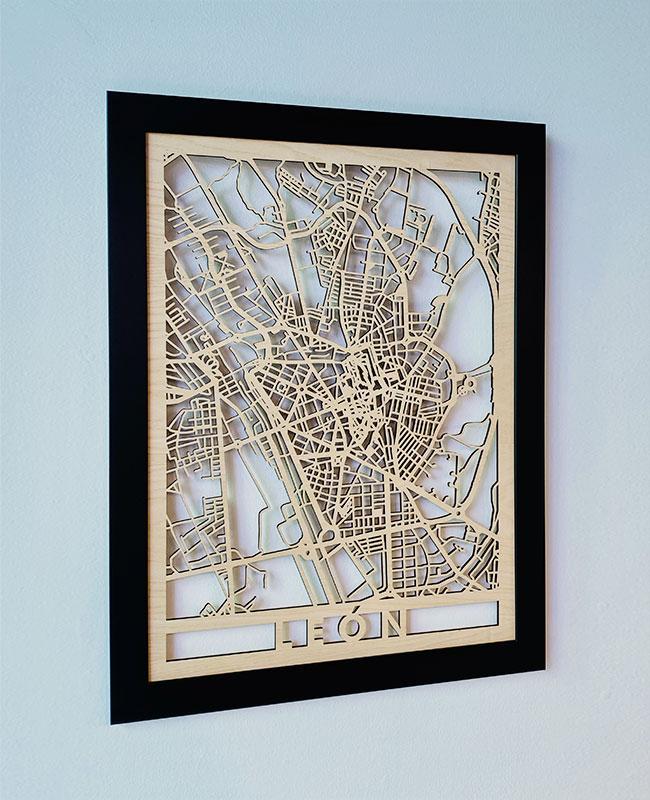 Mapa de León decoración