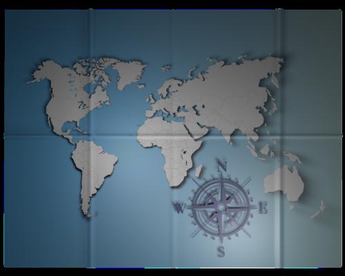 mapa mundi de vinilo