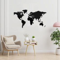 Mapa mundi decorar negro