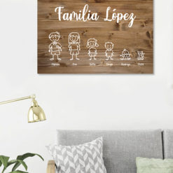 tablon-de-madera-personalizado-familia-horizontal